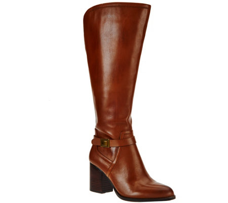 Franco Sarto Leather Wide Calf Tall Shaft Boots - Arlette