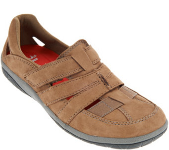 """As Is"" Clarks Collection Nubuck Athletic Shoes - Teffa Adorn - A288428"
