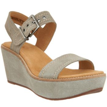 Clarks Artisan Suede Wedge Sandals - Aisley Orchid