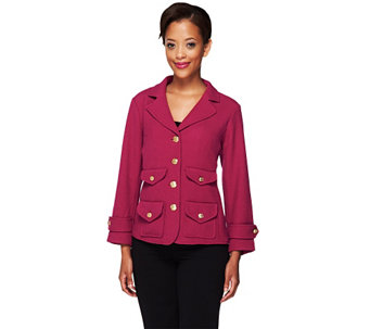 """As Is"" Joan Rivers Perfectly Tailored Knit Jacket - A291528"