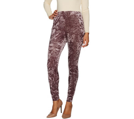 Du Jour Petite Pull-On Crushed Velvet Knit Leggings