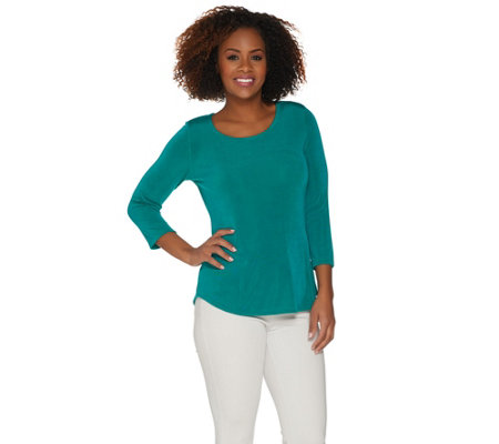 Attitudes by Renee Radiant Knit 3/4 Sleeve T-Shirt