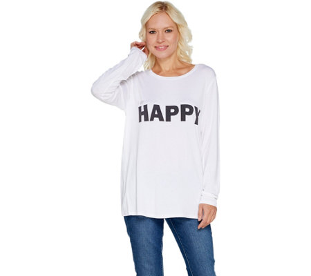 Peace Love World Doni Crew Neck Long Sleeve Tee