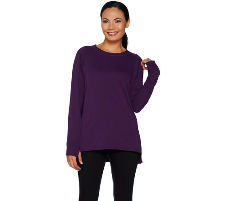 """As Is"" Cuddl Duds Comfortwear French Terry Pullover Top"