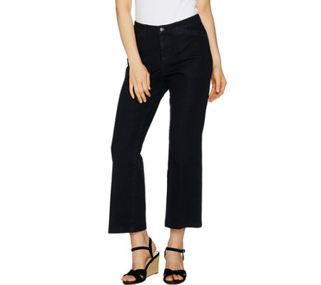 """As Is"" Isaac Mizrahi Live! 24/7 Denim Tall Flare Ankle Jeans"