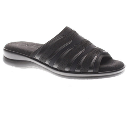 Flexus by Spring Step Swift Leather/Lycra SlideSandals