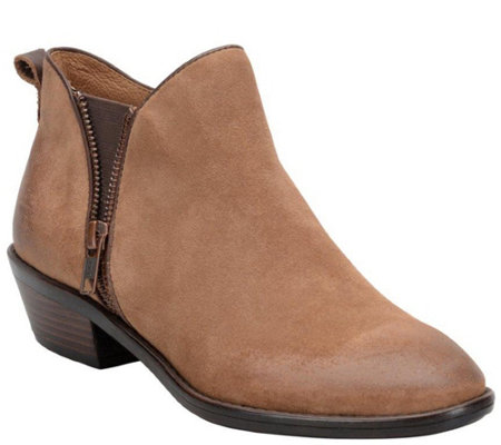 Sofft Suede Zip Ankle Boots - Vinton