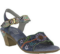 L'Artiste by Spring Step Leather Heeled Sandals- Isobel - A356828