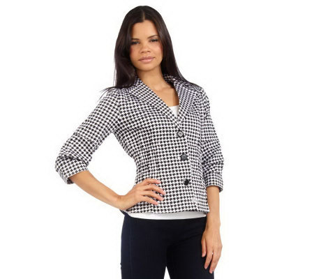 Joan Rivers Signature Houndstooth Jacket