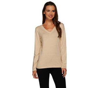 Linea by Louis Dell'Olio Whisper Knit V-neck Sweater - A217629