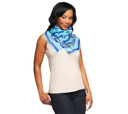 Amiee Lynn Multi Stripe Scarf with Fringe