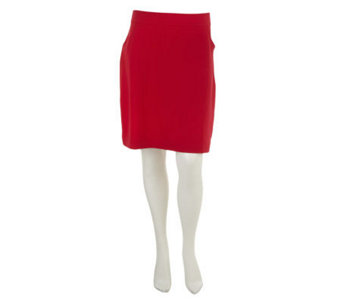 Susan Graver Weekend French Terry Pull-On Skirt with Pockets - A234329