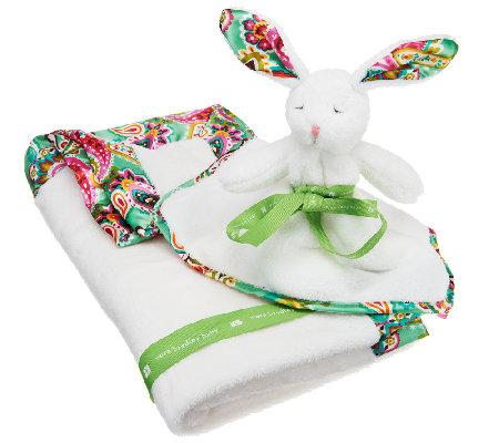 Vera Bradley Signature Print Plush Blanket And Bunny