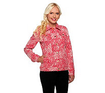 Isaac Mizrahi Live! Animal Jacquard Knit Jacket - A255629