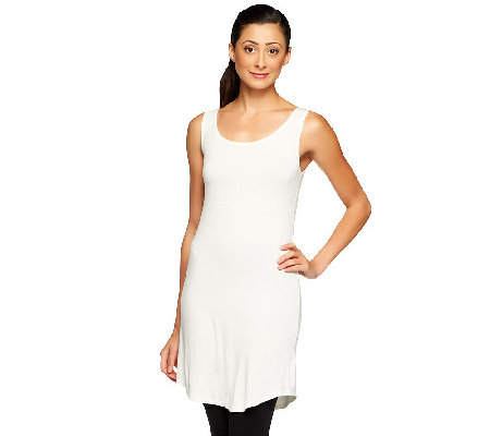 """As Is"" LOGO Layers by Lori Goldstein Petite Curved Hem Tank"