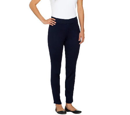 """As Is"" Denim & Co. Regular Super Stretch Pull-On Leggings"
