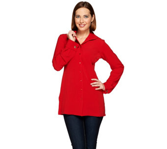 Linea by Louis Dell'Olio Wing Collar Woven Tunic - A268129