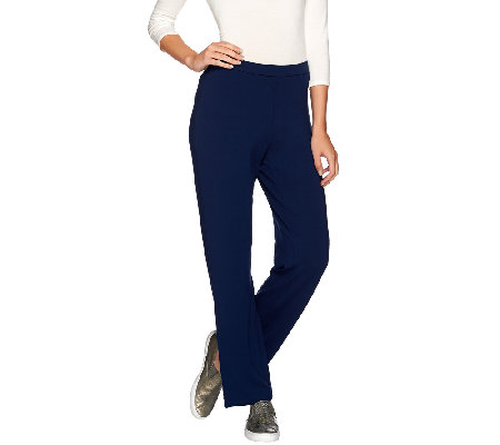 Susan Graver Dolce Knit Comfort Waist Pull-On Pants