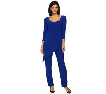 Attitudes by Renee Tall Asymmetric Hem Knit Jumpsuit - A273829