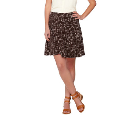 Susan Graver Weekend Printed Cotton Modal Comfort Waist Skort