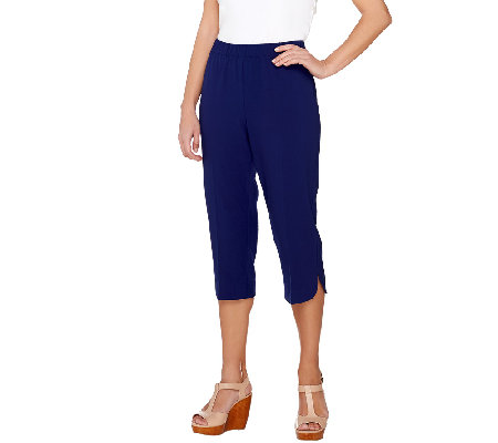 """As Is"" Susan Graver Chelsea Stretch Comfort Waist Pull-On Capri Pants"