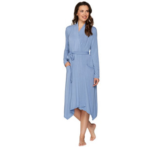 LOGO Luna by Lori Goldstein Long Knit Robe with Tie - A276329