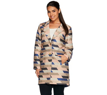 C. Wonder Novelty Jacquard Button Front Coat - A279729