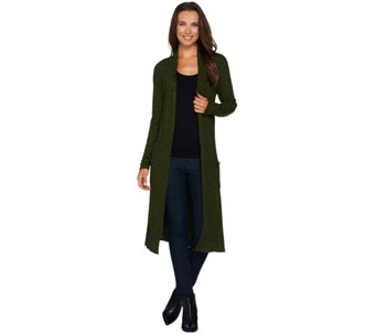 Lisa Rinna Collection Petite Open Front Duster Cardigan - A280329