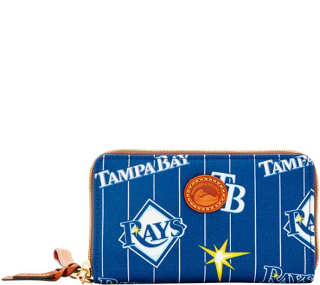 Dooney & Bourke MLB Nylon Rays Zip Around Phone Wristlet