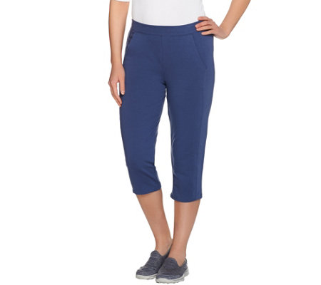 """As Is"" Denim & Co. Active Forward Seam Capri Pants with Pockets"