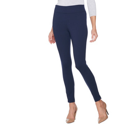 Kelly by Clinton Kelly Regular Ponte Ankle Pants w/ Zipper Detail