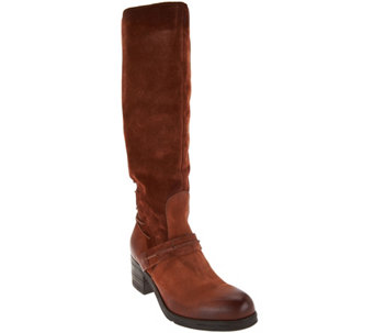 """As Is"" Miz Mooz Tall Leather Boots w/Lace Detail - Shankara - A290829"