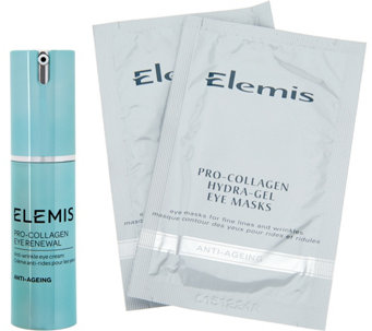 ELEMIS Pro-Collagen Eye Renewal Cream with 2pk Eye Masks - A292229