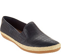 Clarks Perforated Leather Slip-on Shoes - Danelly Molly - A302229