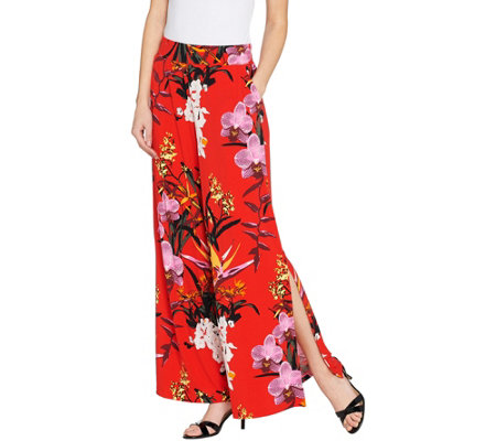 G.I.L.I. Jetsetter Petite Side Slit Pants with Pockets