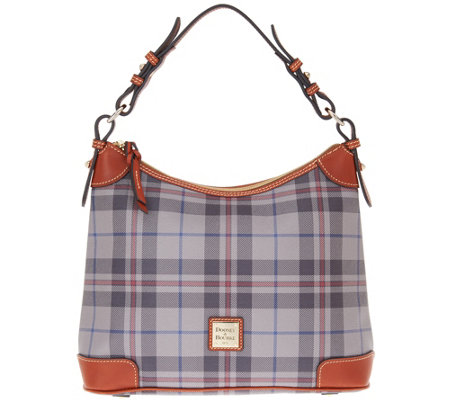 """As Is"" Dooney & Bourke Tiverton Plaid Hobo"