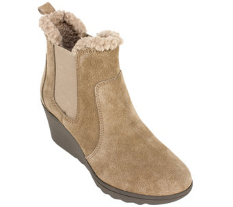 White Mountain Suede Leather Booties - Kickoff - A338829