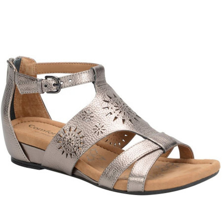 Comfortiva by Softspots Leather Gladiator Sandals - Saco
