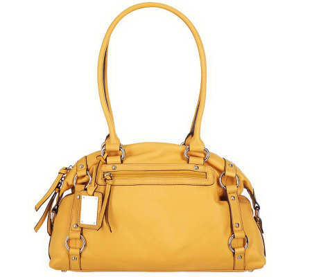 Tignanello Glove Leather Double Handle Zip Top Dome Satchel
