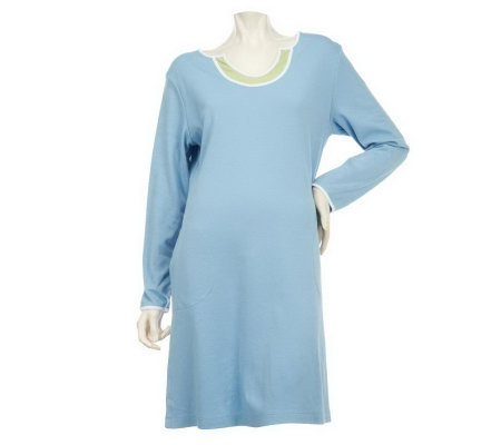 "Stan Herman Solid Brushed Interlock 38"" Caftan"