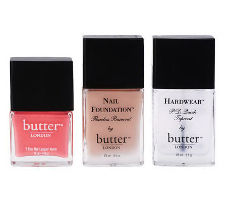 butter LONDON Nail Essentials Collection Starter Kit Trio