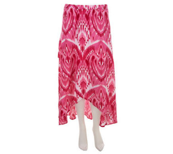 Liz Claiborne New York Regular Ikat Print Crossover Maxi Skirt - A233530