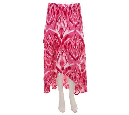 Liz Claiborne New York Regular Ikat Print Crossover Maxi Skirt