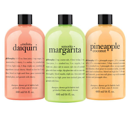philosophy sunshine and sand shower gel trio, 16 oz.