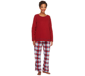 Stan Herman Novelty Print Micro Fleece 2-Pc Lounge Set - A237730