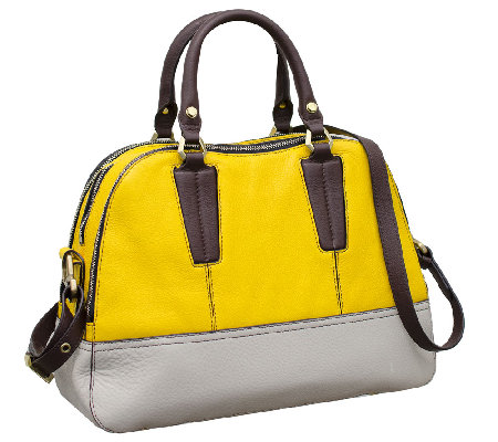 orYANY Leslie Pebble Leather Triple Zip Satchel