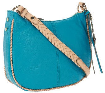 B.Makowsky Lola Pebble Leather Zip Top Crossbody Bag - A255330