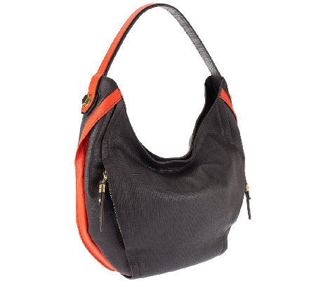 """As Is"" orYANY Kayla Italian Diamond Leather Hobo"