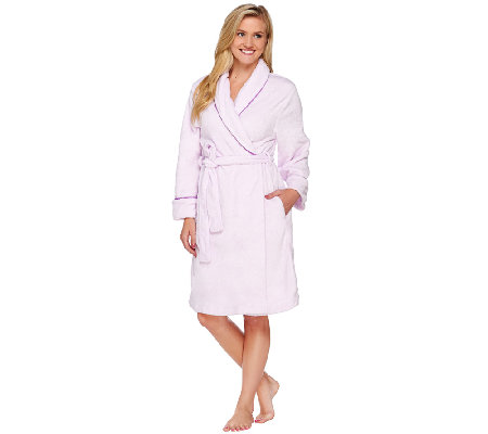 Carole Hochman Plush Mid-Length Wrap Robe