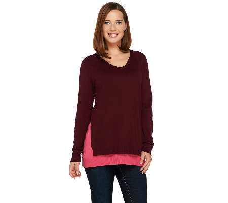 Linea by Louis Dell'Olio Whisper Knit V-Neck Sweater